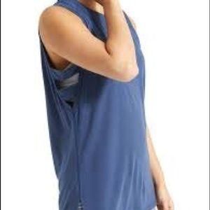 Athleta Blue Lattice Workout Tank - Medium
